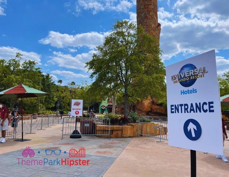 Entrance sign to Islands of Adventure