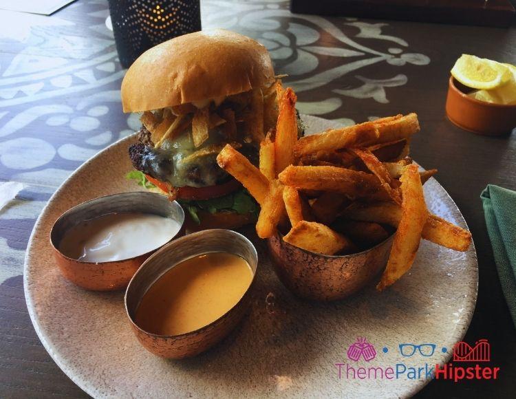 Hamburger and Fries at Three Bridges Coronado Springs Disney