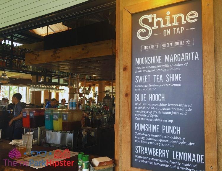 Homecomin Disney Springs Moonshine Bar