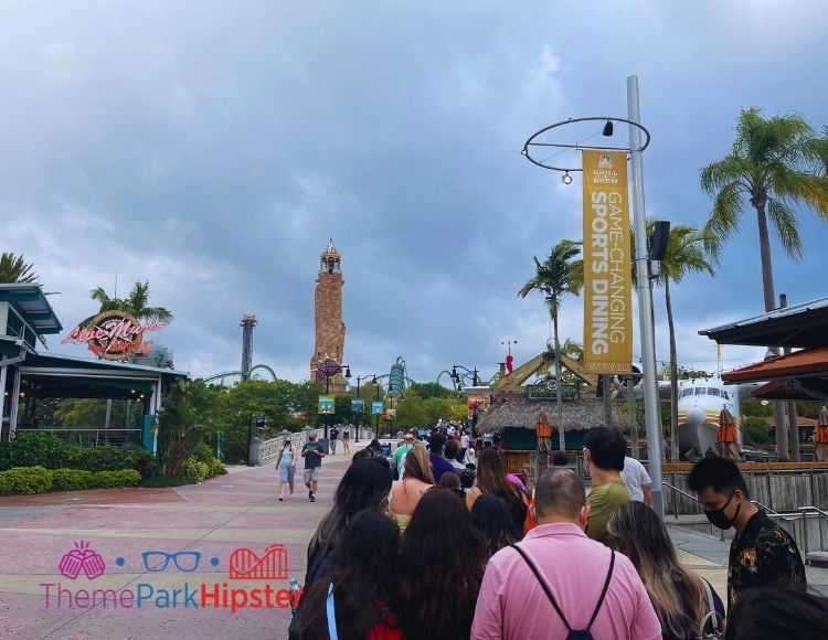 Long line waiting to get into Islands of Adventure