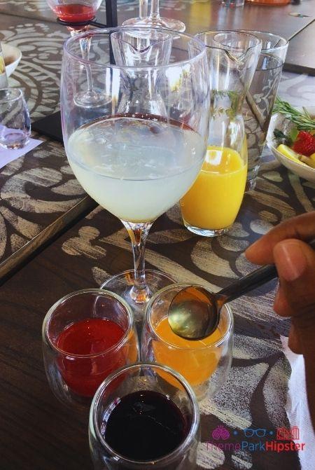 Making Sangria at Disney with Lemonade Base