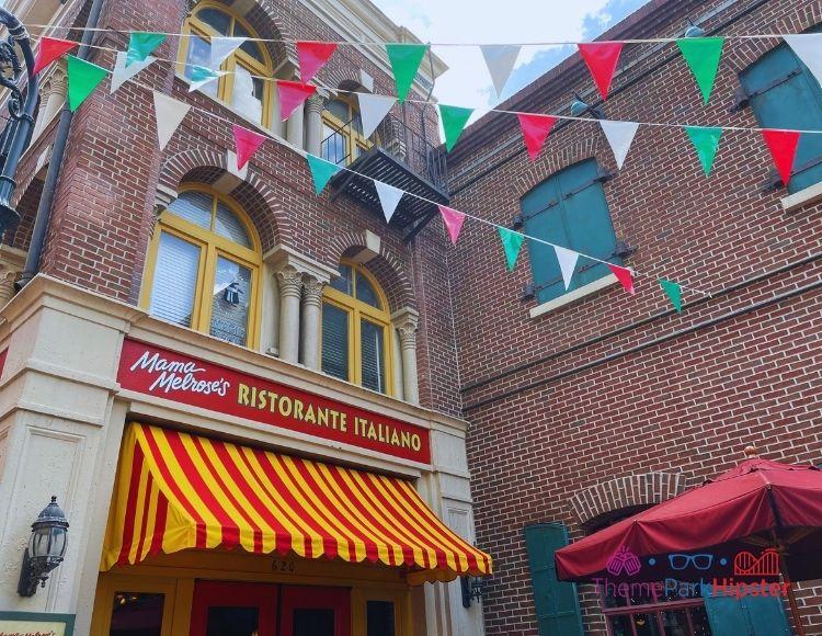 Mama Melrose Ristorante Italiano Entrance at Hollywood Studios. One of the worst disney world restaurants.