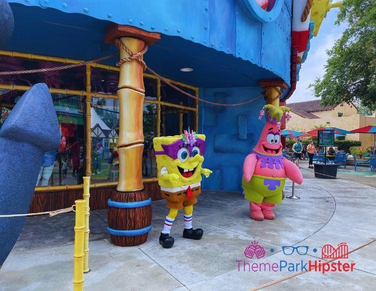 Meeting Spongebob and Patrick at Universal Studios Florida