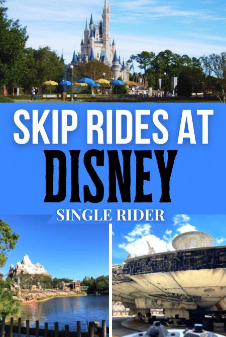 Single Rider Line at Disney