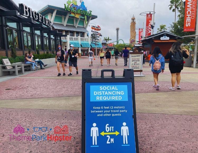 Social Distancing Sign at Universal Orlando Citywalk