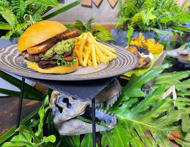 Casado Burger Platter at Jurassic World Universal