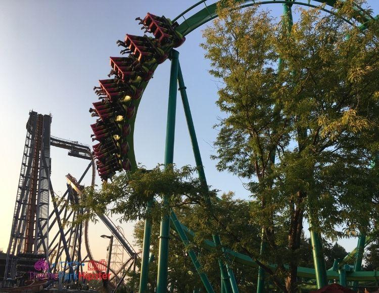 Cedar Point Raptor Roller Coaster at Dusk
