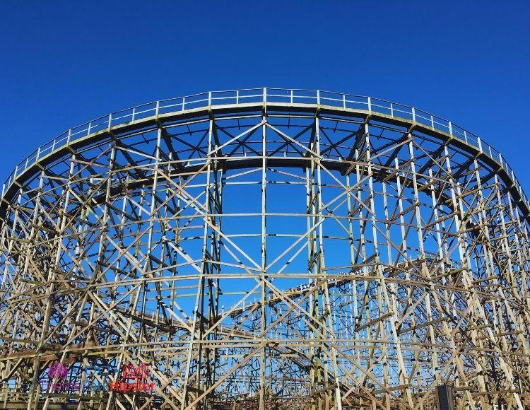 Cedar Point Wooden Roller Coaster at Dusk
