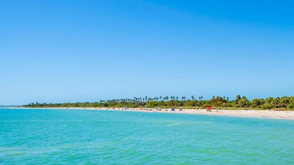 Fort De Soto Park Beach in Florida. Making it the best beach close to Disney.
