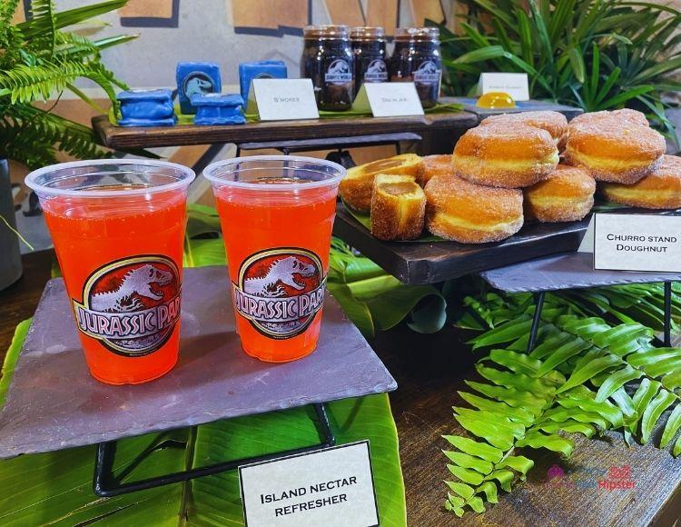 Island Nectar Refresher and Churro Stand Doughnut at Universal Jurassic Park
