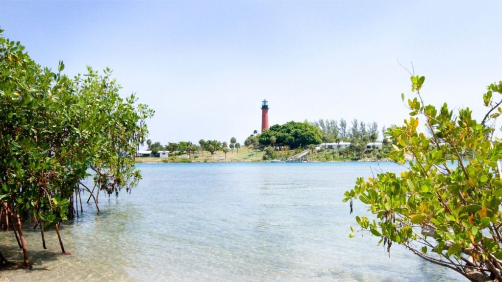 Jupiter Beach Florida with Lighthouse