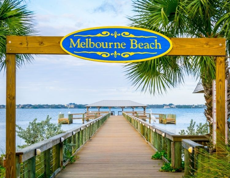 Melbourne Beach Florida pier. Making it the best beach close to Disney.