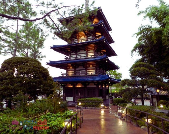 Rainy day in Japan Pavilion At Epcot Orlando Florida