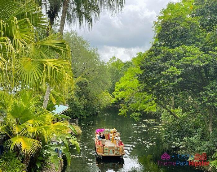 Rainy day with Cavalcade of Mickey Mouse on river At Magic Kingdom Orlando Florida