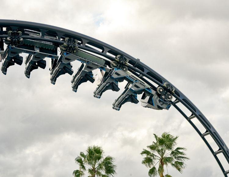 Velocicoaster ride Universal Orlando Photo