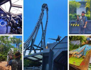 Velocicoaster ride at Universal Jurassic Park