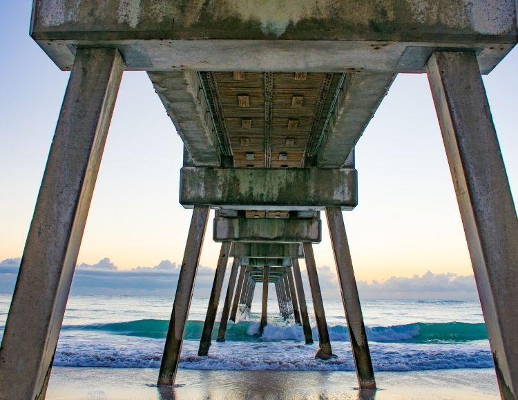 Vero Beach Florida pier. Making it the best beach close to Disney.