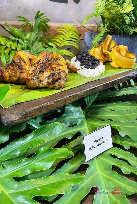 Wings and Island Rice at Universal Jurassic World
