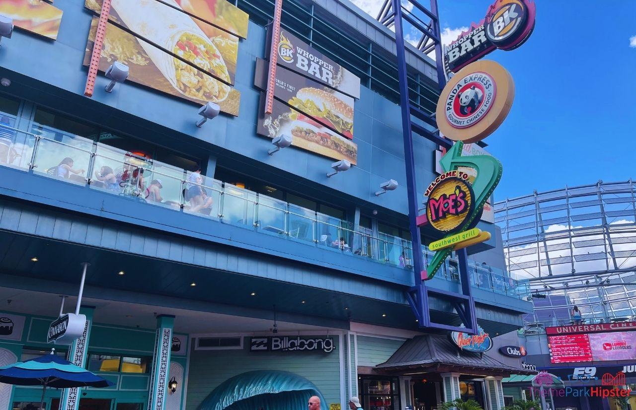 CityWalk Orlando Burger King Bar Panda Express Moes