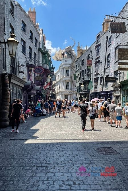 Dragon Atop Gringotts Bank from the front at Diagon Alley