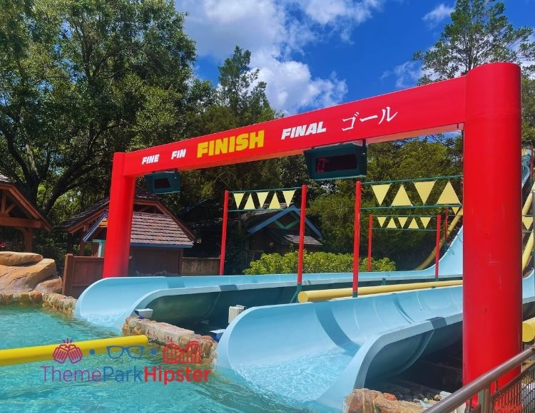 Finish Line of Racing Ride at Blizzard Beach Water Park