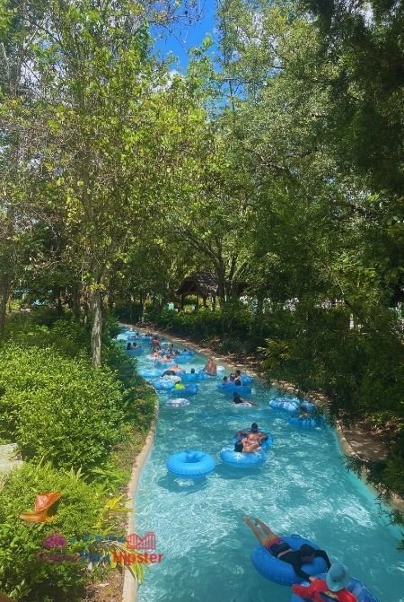 Floating on Lazy River at Blizzard Beach Water Park