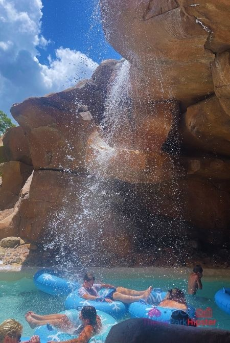 Going in Tunnel on Lazy River at Blizzard Beach Water Park