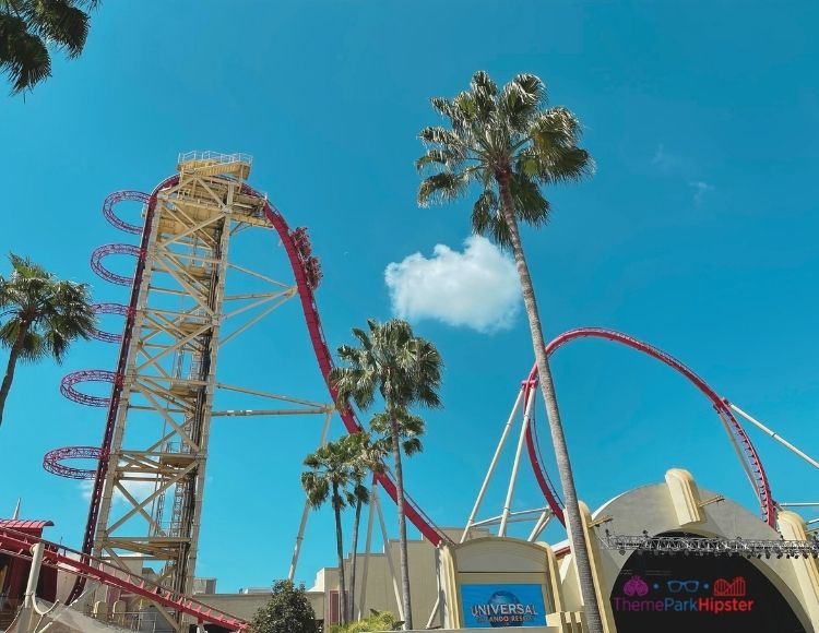 Hollywood Rip Ride Rockit Ride at Universal Studios Front Entrance making it one of the best rides at Universal Studios.