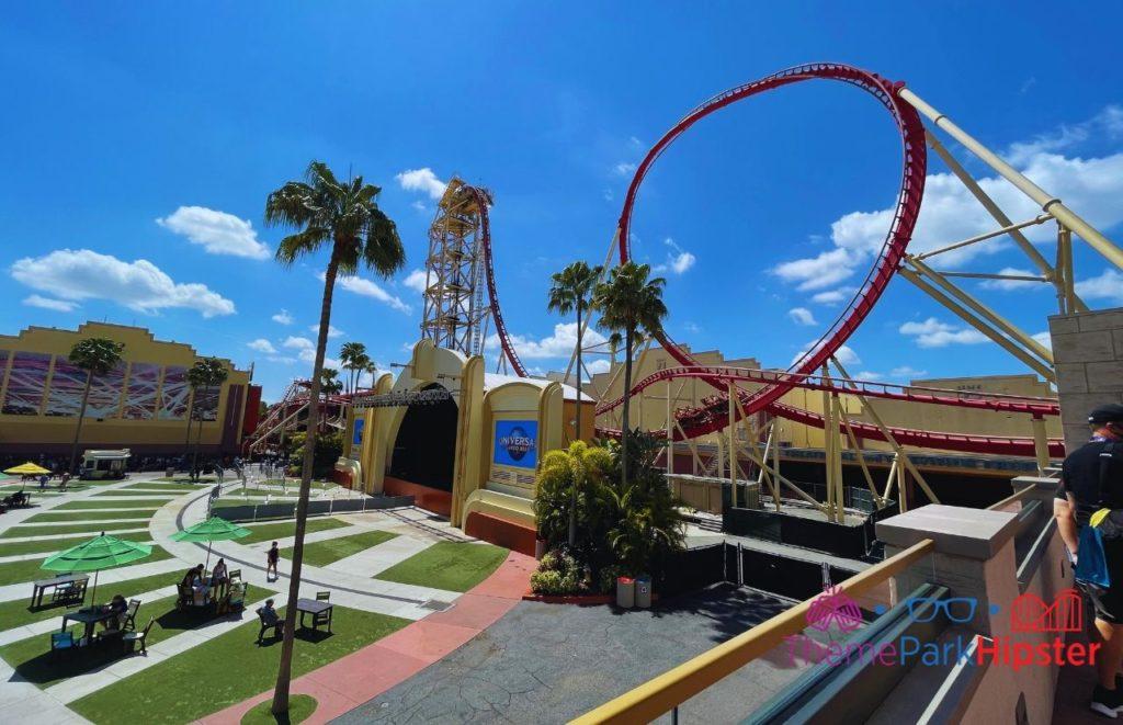 Hollywood Rip Ride Rockit in Florida sun. Universal Orlando Express Pass.