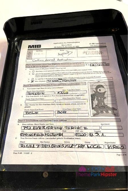 Men in Black Alien Attack Secret Document of Kang from Simpsons