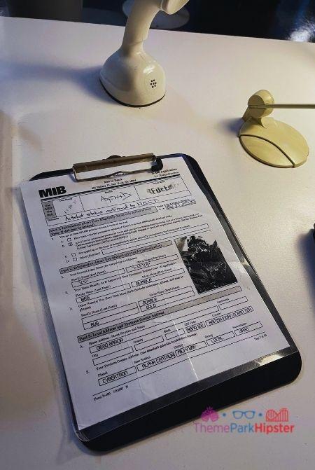 Men in Black Immigration Tour Megatron Document
