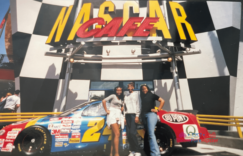 NikkyJ and Sisters in front of old Nascar Cafe at Citywalk 1999 Universal Orlando Resort
