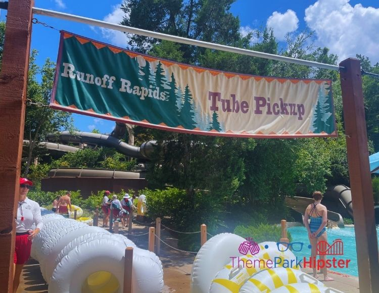Runoff Rapids Entrance and Tubes at Blizzard Beach Water Park