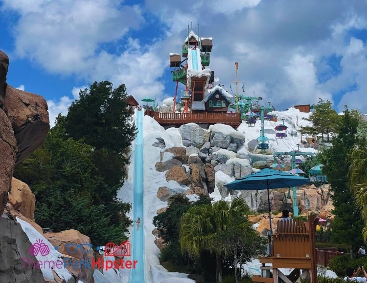 Slush Gusher and Summit Plummet One of the best rides at Blizzard Beach Water Park.