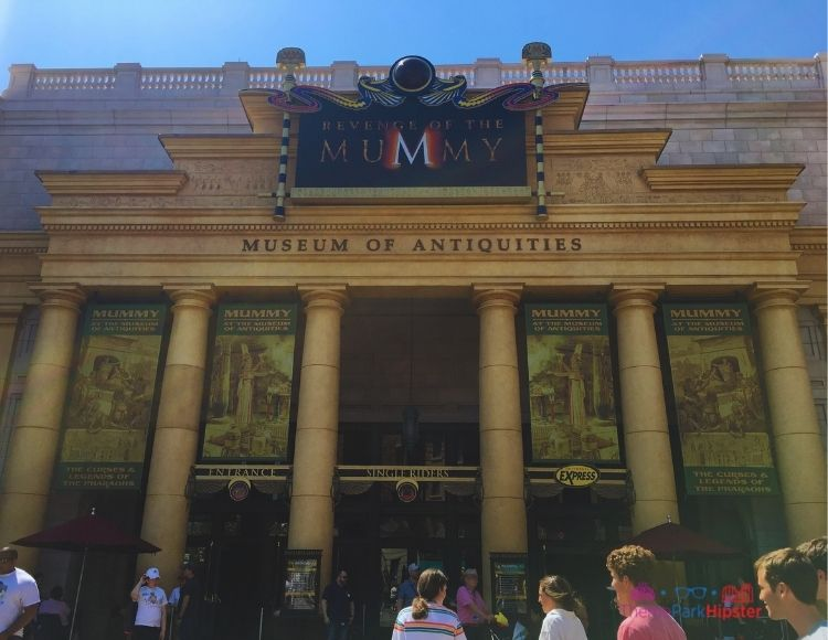 The Mummy Ride at Universal Studios Front Entrance making it one of the best rides at Universal Studios.