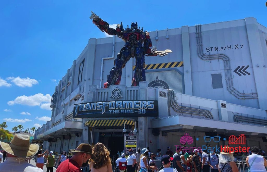 Transformers the ride entrance