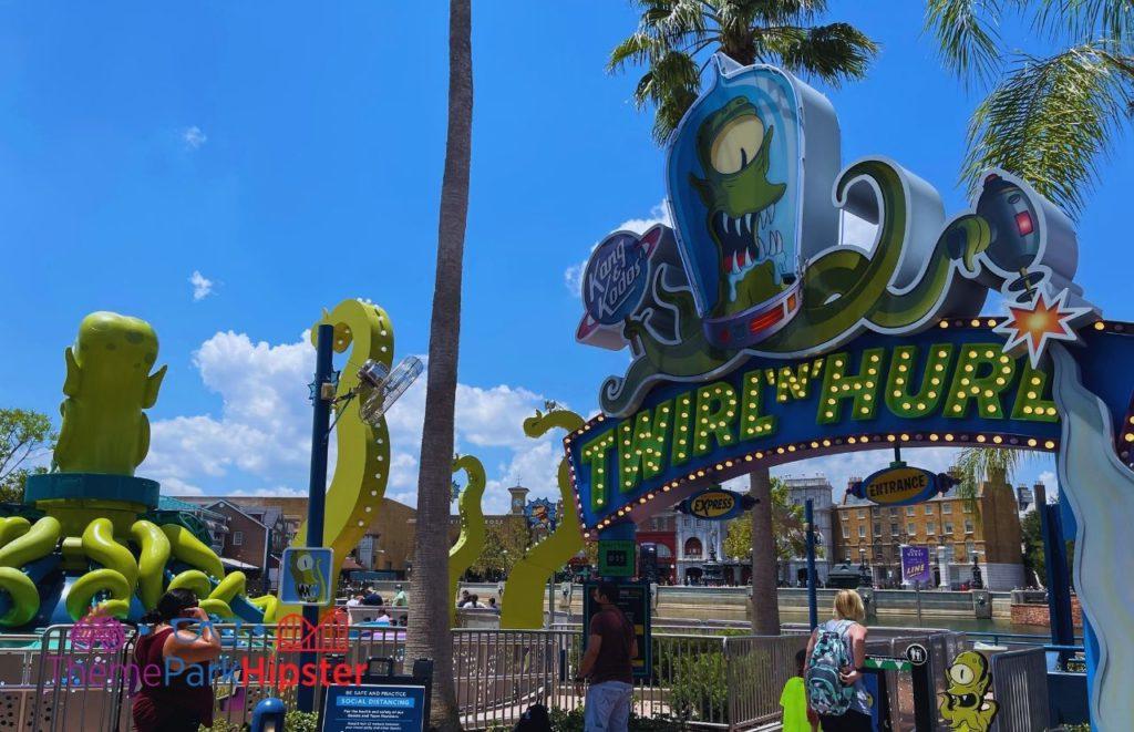 Twirl n Hurl ride Simpsons Land at Universal Orlando