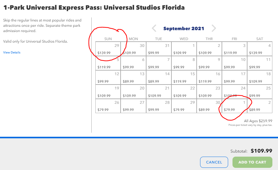 Universal Express Pass Price Changes