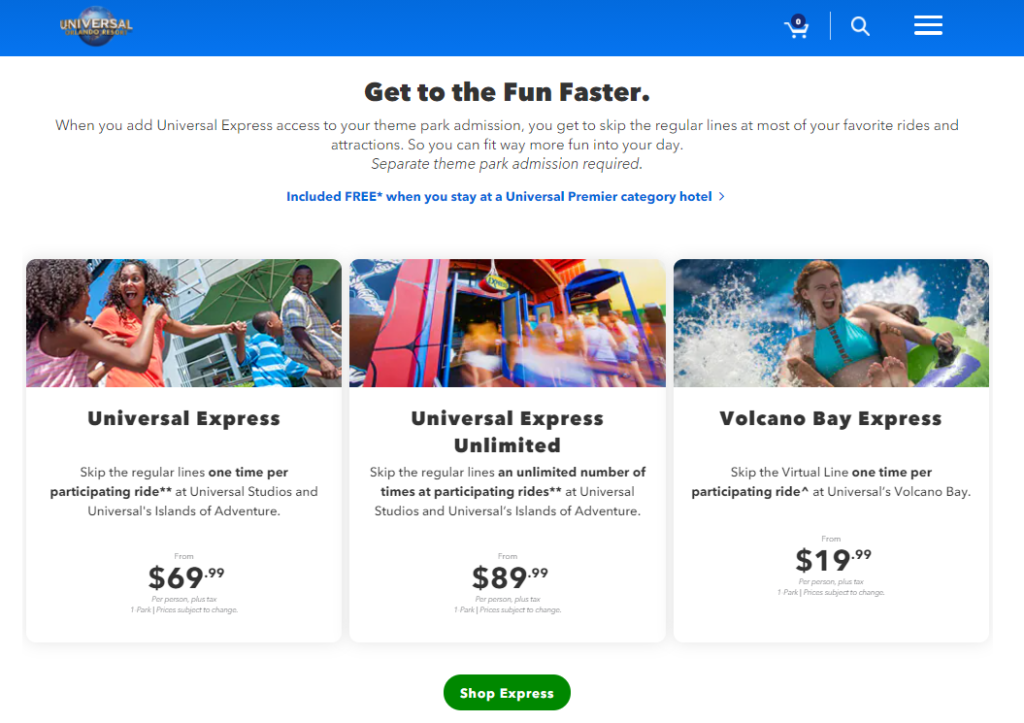 Universal Express Pass Screenshot