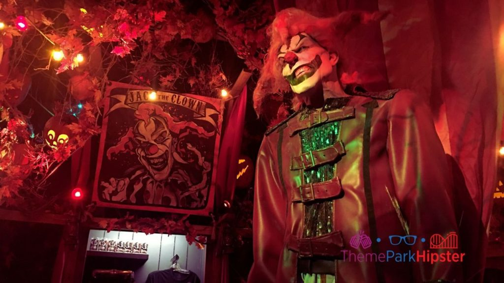 Halloween Horror Nights Tribute Store with Jack the Clown
