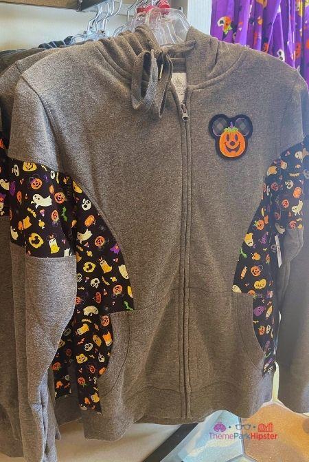2021 Disney Halloween Merchandise Gray Zipper Sweater