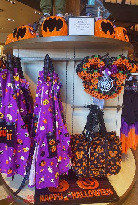 2021 Disney Halloween Merchandise Purple Kitchen Apron and Door Mat