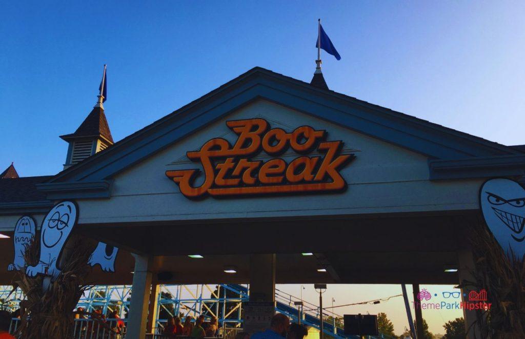 Boo Streak Blue Streak Roller Coaster at Cedar Point Halloweekends