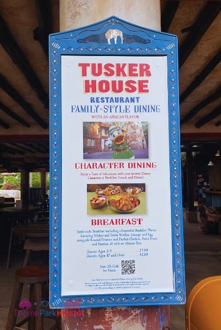 Disney Buffet Restaurant Tusker House at Animal Kingdom