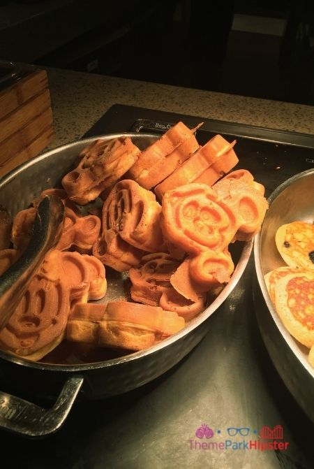 Buffet at Disney with Mickey Mouse Waffles