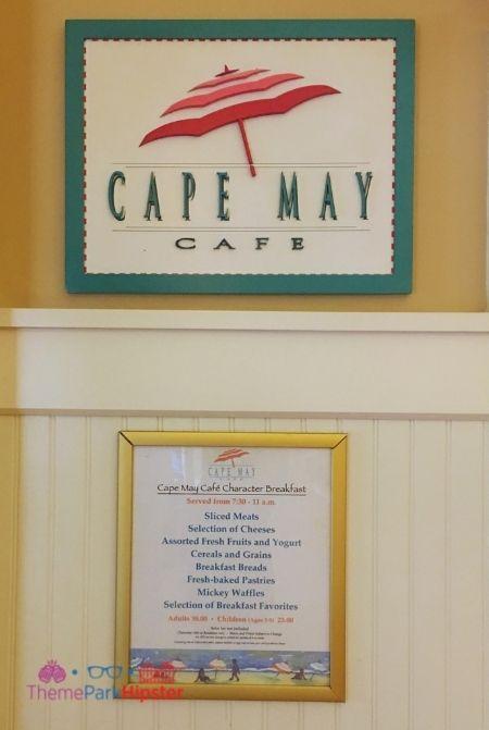 Buffet at Disney Cape May