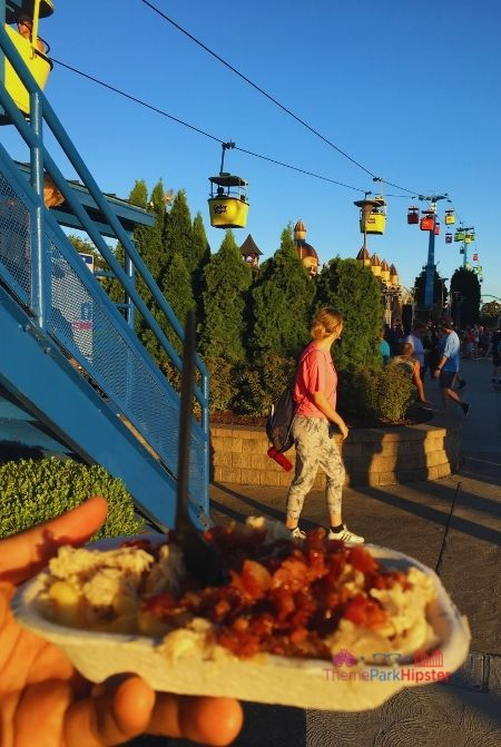 Cedar Point Halloweekends Loaded Mac and Cheese