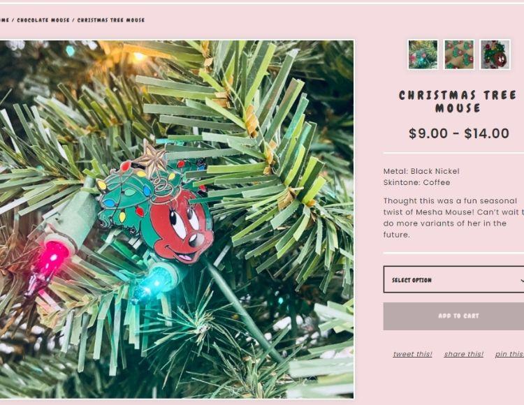 Chocolate Mini Me Disney Pin Shop Christmas Tree Mouse