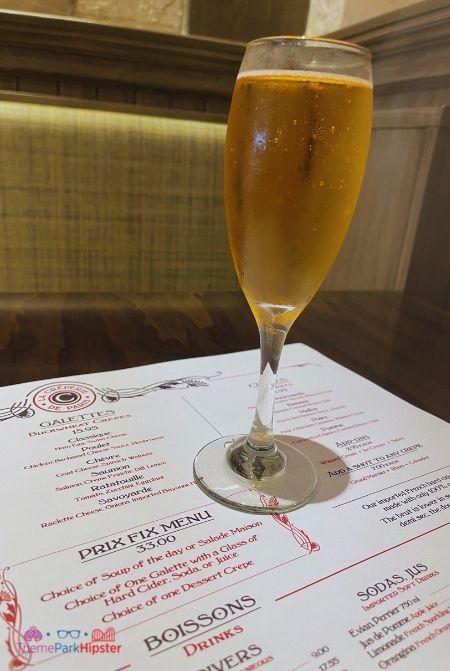 Cider at La Creperie de Paris Epcot