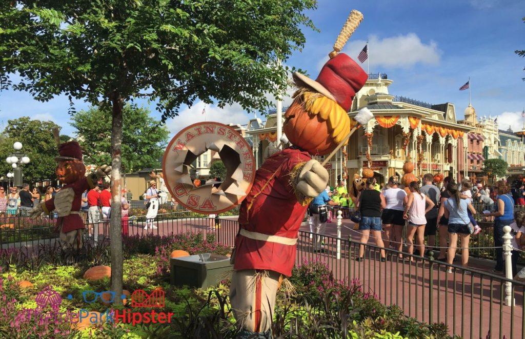 Fall Scarecrow at Magic Kingdom Solo Travel Orlando